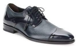 Mezlan Pebbled & Patent Leather Oxfords