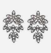 Avenue Jet Leaf Earrings