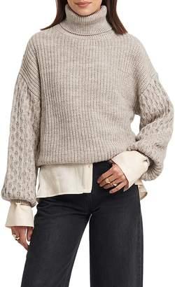 NA-KD Mixed Knit Turtleneck Sweater