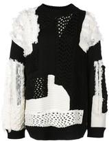 Koché two-tone knit jumper