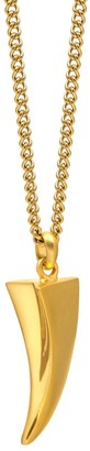 Northskull Tiger Claw Necklace In Gold