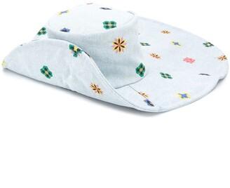 Kirin Wide Floral Print Hat