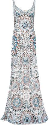 Roberto Cavalli Crystal-embellished Printed Silk-chiffon Gown