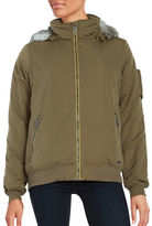 Bench Faux Fur-Accented Zip-Up Jacket