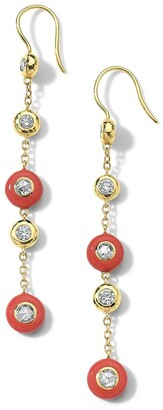 Ippolita 18kt yellow gold Carnevale Stardust Linear Station ceramic and diamond earrings