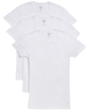2xist Men's Slim-Fit Deep V-Neck 3 Pack Undershirt
