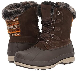 Propet Lumi Tall Lace (Brown) Women's Boots