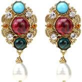 Ben-Amun Byzantine Pearl Drop Earrings