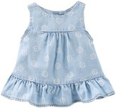Osh Kosh Floral Top (Baby) - Yacht Blue - 18 Months