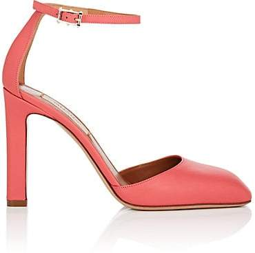 Valentino WOMEN'S LEATHER ANKLE-STRAP SANDALS - ROSE SIZE 7