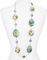 Alexis Bittar Crystal Studded Golden Pleats Necklace, 42