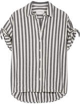 The Great The Tie Striped Cotton-twill Shirt - Dark gray