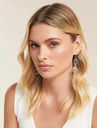 Forever New Sally Hectagon Drop Earrings - Blue - 00