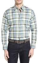 Robert Talbott Men's Anderson Classic Fit Plaid Micro Twill Sport Shirt