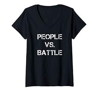 Victoria's Secret Womens People Battle Sovereign Citizen V-Neck T-Shirt