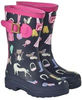 Joules Navy Welly with Pony Print