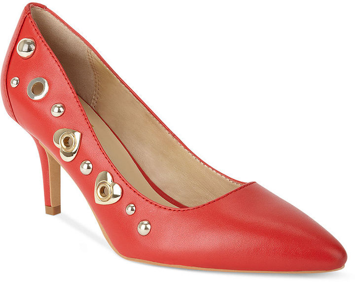 Love Moschino Metal Cardio Pointed-Toe Pumps