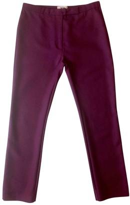 Acne Studios Burgundy Wool Trousers