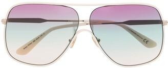 Tom Ford Aviator-Frame Gradient-Lens Sunglasses