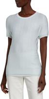 St. John Spring Striped Knit Short-Sleeve Top