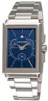 Azzaro Men's AZ2061.13EM.000 Legand Rectangular Chronograph Blue Dial Bracelet Watch