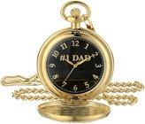 EWatchFactory Men's 'EW DAD Pkt' Quartz Metal Pocket Watch, Color:Black (Model: PW00066)