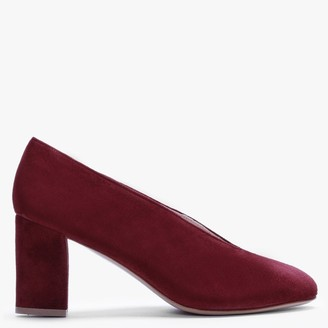 Daniel Aneso Burgundy Suede V Front Court Shoes