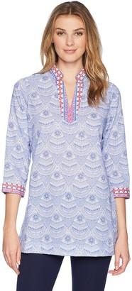 Foxcroft Women's Angelica Medallion Combo Tunic