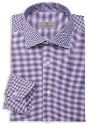 Canali Mini Check Dress Shirt