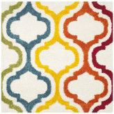 Safavieh Kids Shag Ivory/ Multi Rainbow Rug (6'7 Square)