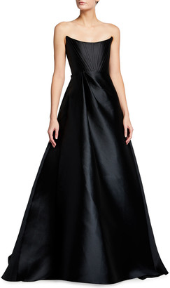 Alex Perry Denver Strapless Satin Gown