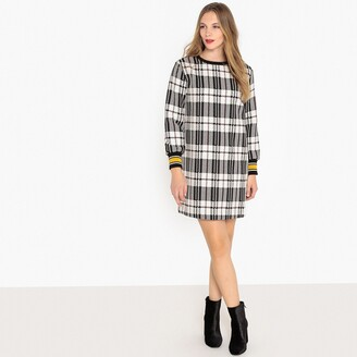 La Redoute Collections Checked Shift Dress