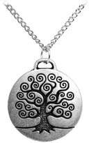 """Body Candy Stainless Steel Chain Tree of Life Pendant Necklace, 18"""""""