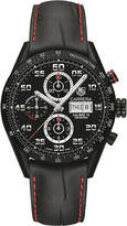 Tag Heuer CV2A81.FC6237 Carrera titanium and alligator-leather watch
