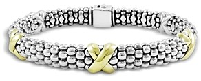 Lagos 18K Yellow Gold and Sterling Silver Caviar Bracelet