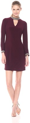 SL Fashions Women's Chnky Bead Cut Out Vneck Ity