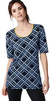 Classic Women's Tall Active Elbow Sleeve Tunic Top-Vibrant Concord Geo
