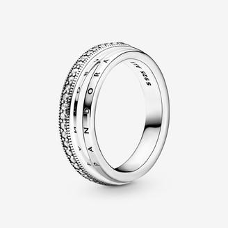 Pandora Triple Band Pave Ring