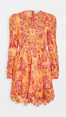 Zimmermann Brightside Rouleaux Mini Dress