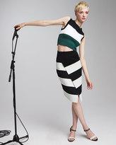 A.L.C. Charlotte Cropped Striped Sweater