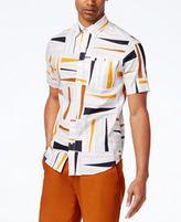 Sean John Sean Jean Men's Big & Tall Geometric Stretch Shirt