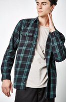 Globe Flanigan Plaid Flannel Long Sleeve Button Up Shirt