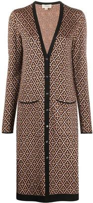 Temperley London Madame tile-jacquard cardigan