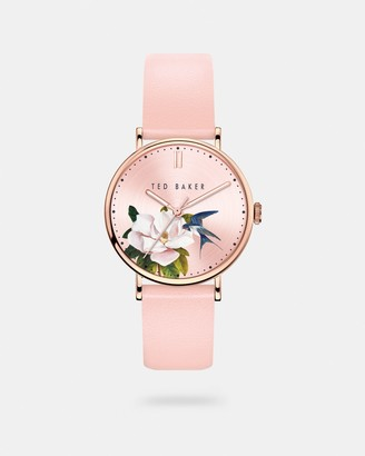 Ted Baker PARMINA Opal dial leather strap watch