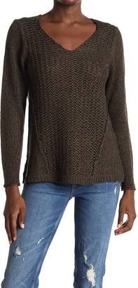 Modern Designer Mixed Stitch V-Neck Sweater