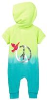 Butter Super Soft Peace Sign Dip Dye Fleece Hooded Jumper (Baby Girls 0-9M)
