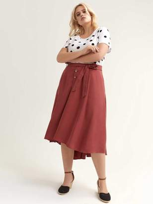 Belted High-Low Skirt - L&L
