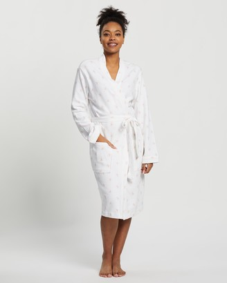Marks and Spencer Cotton Waffle Leaf Print Dressing Gown