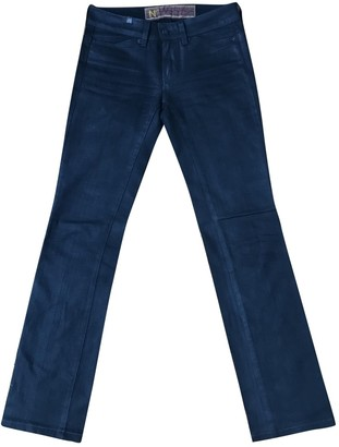 Notify Jeans Black Cotton Trousers for Women