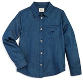Armani Junior Armani Boys' Denim Button Down Shirt - Sizes 10-16